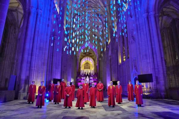 Winchester Cathedral Lights Up